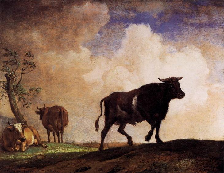 Бык и коровы, Паулюс Поттер 1649, Gemaldegalerie, Берлин (Германия)