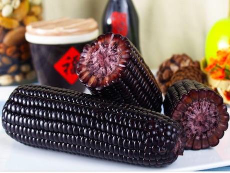 черная кукуруза в Китае