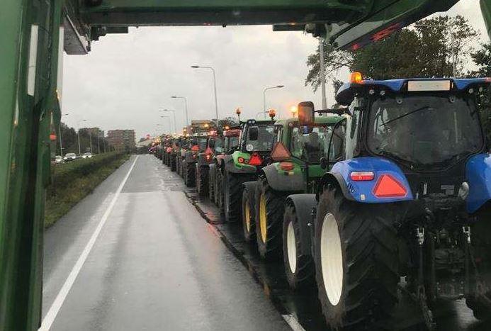 протесты фермеров в Гааге