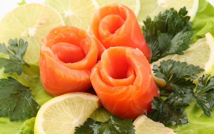 Семга рыба зелень бесплатно