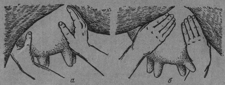 массаж вымени - растирание долей
