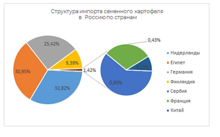 импорт семенного картофеля в Россию